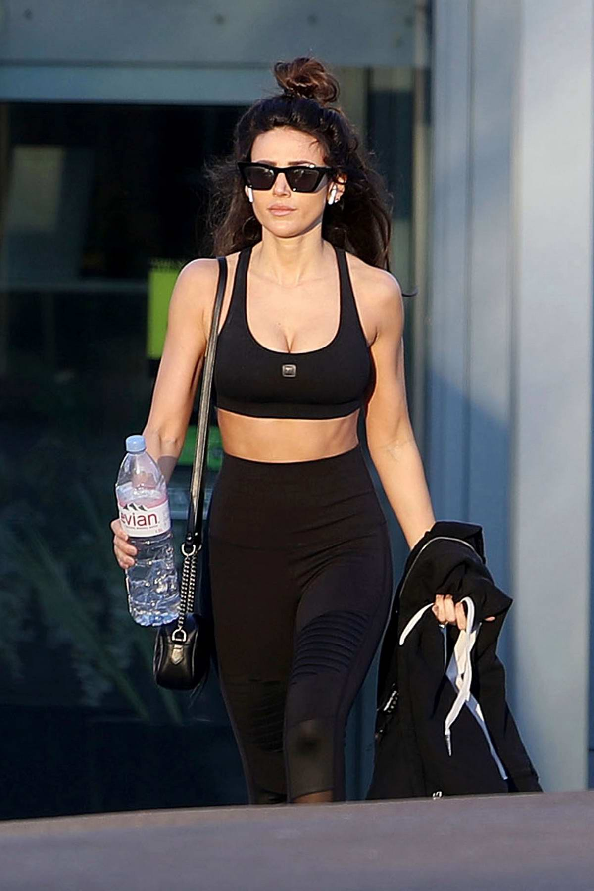 Michelle Keegan seen leaving Essex Fitness Centre in Essex, UK