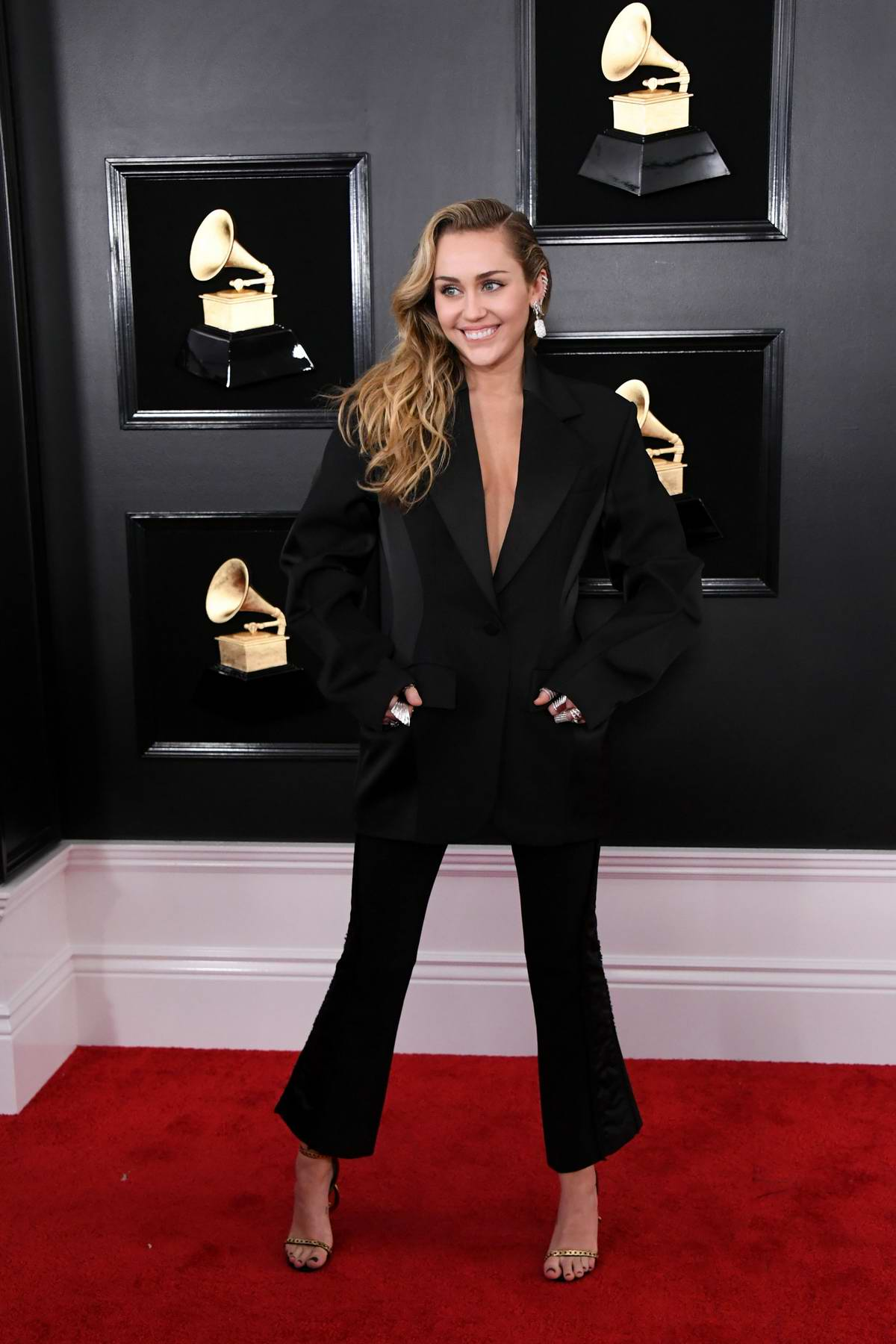 Miley Cyrus attends the 61st Annual GRAMMY Awards (2019 GRAMMYs) at Staples Center in Los Angeles