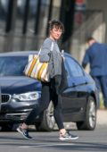 Milla Jovovich seen leaving the gym after an intense workout session in Los Angeles