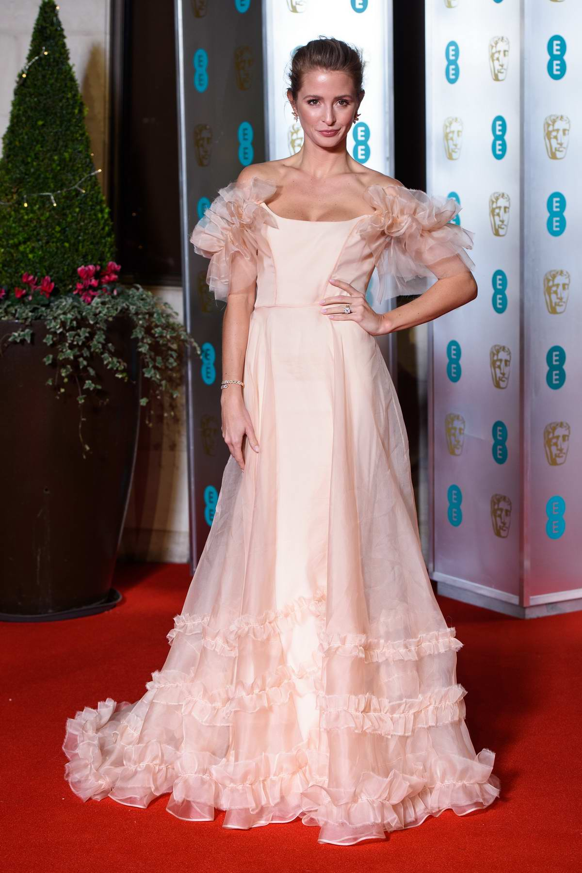 Millie Mackintosh attends the 72nd EE British Academy Film Awards (BAFTA 2019) at Royal Albert Hall in London, UK