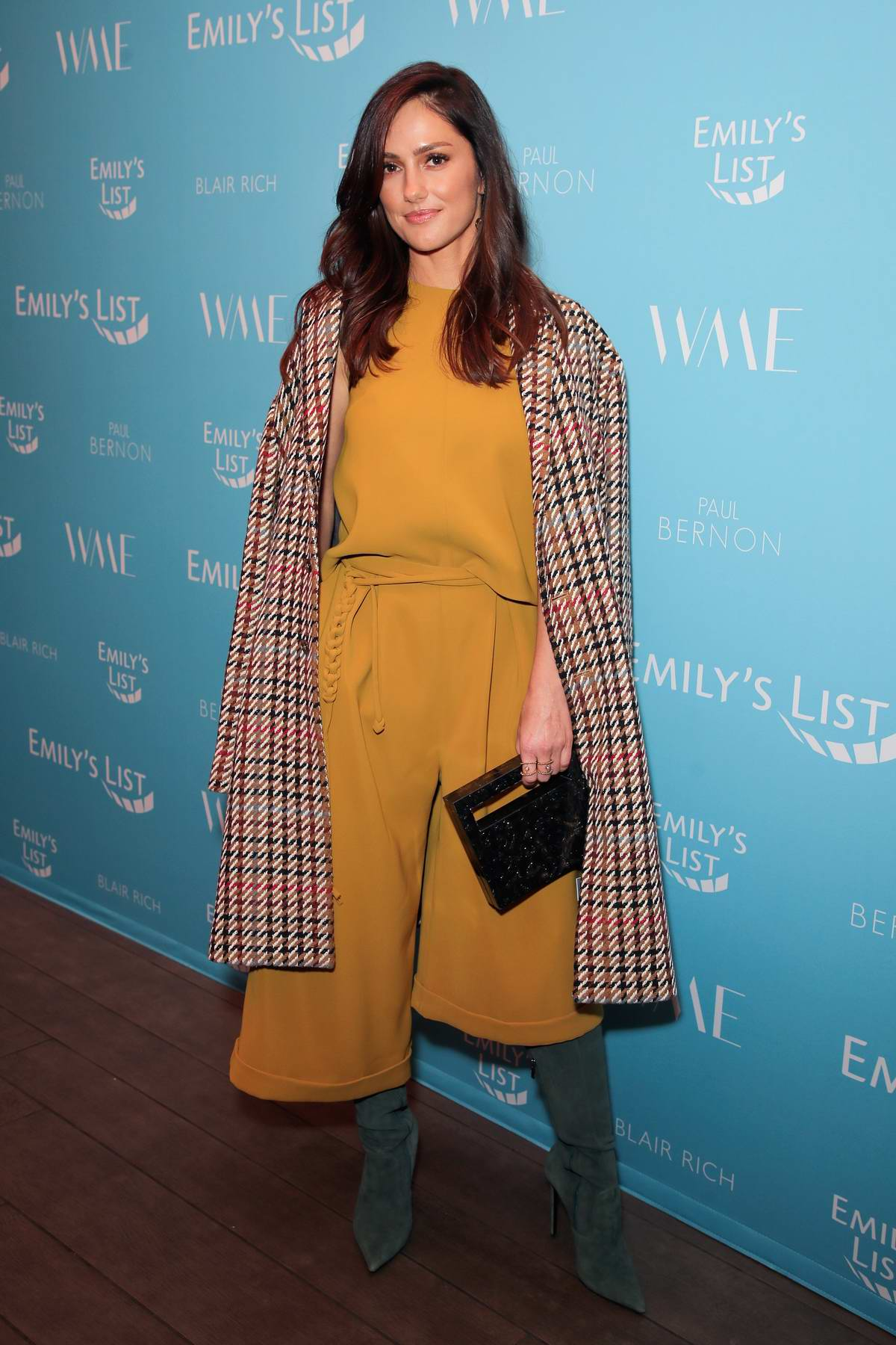 Minka Kelly attends the EMILY'S List Pre-Oscars Brunch at the Four Seasons Hotel in Los Angeles