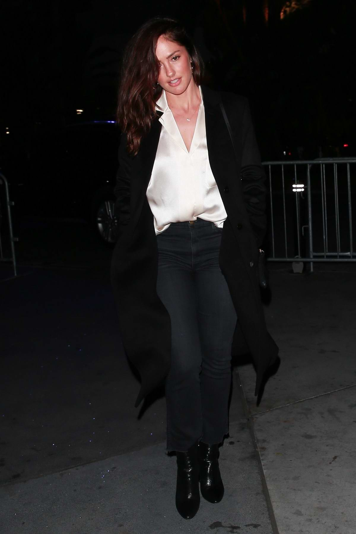 Minka Kelly heading to the Elton John concert at the Staples Center in Los Angeles
