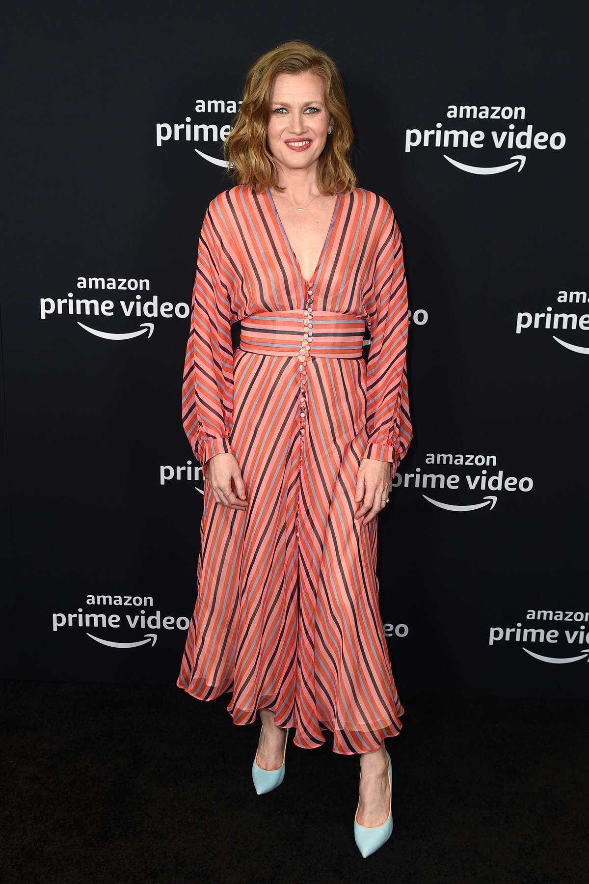 Mireille Enos attends the Amazon Hanna panel at the Winter TCA Press Tour in Pasadena, California
