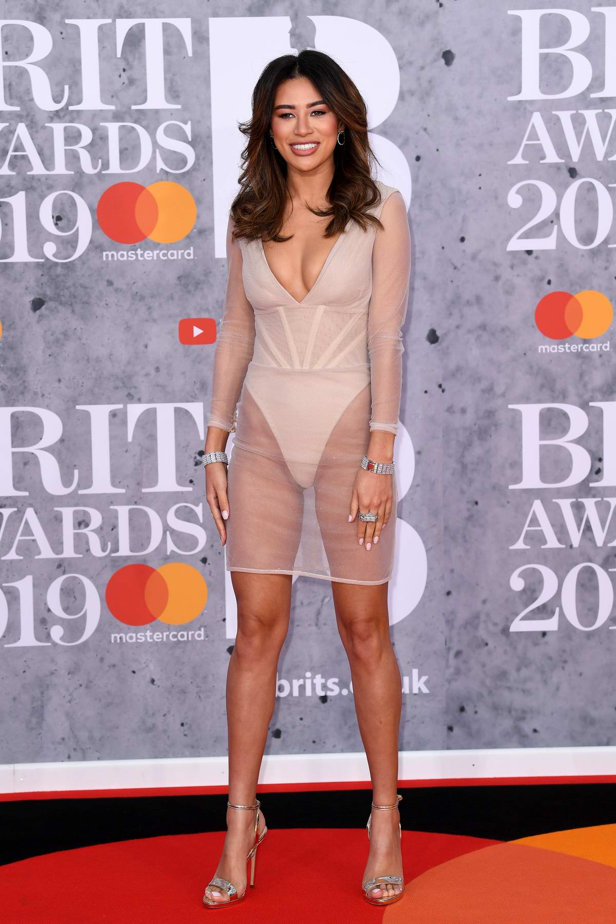 Montana Brown attends The BRIT Awards 2019 held at The O2 Arena in London, UK