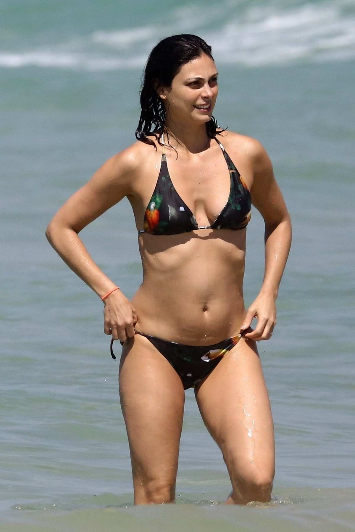Morena Baccarin spotted in a bikini while enjoying a beach day with her family in Rio de Janeiro, Brazil
