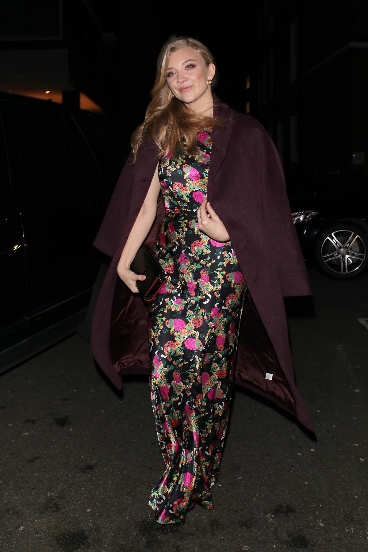 Natalie Dormer arrives at a Barbara Broccoli pre BAFTA party at Spencer House in London, UK