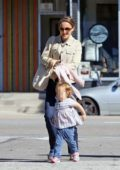 Natalie Portman enjoys a day out along side her daughter in Los Angeles