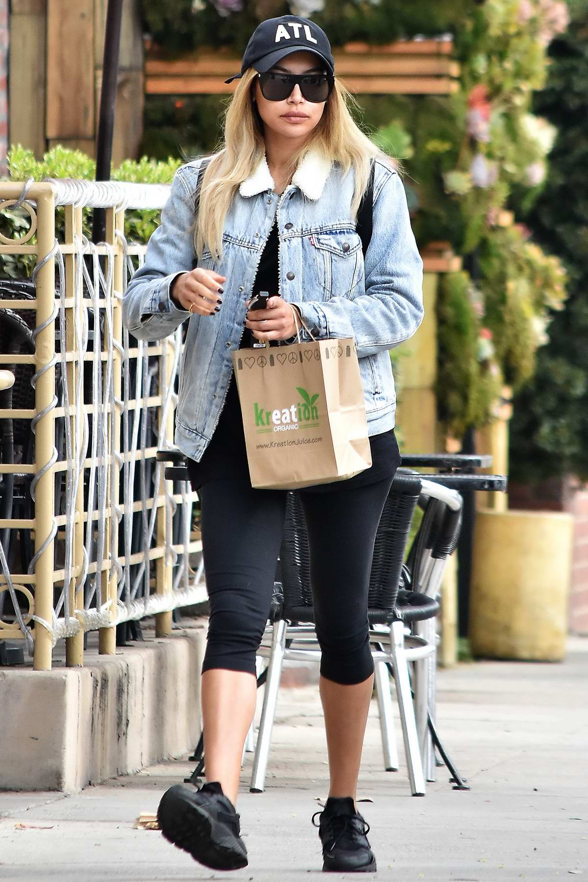 Naya Rivera stops by Kreation Kafe in Los Angeles