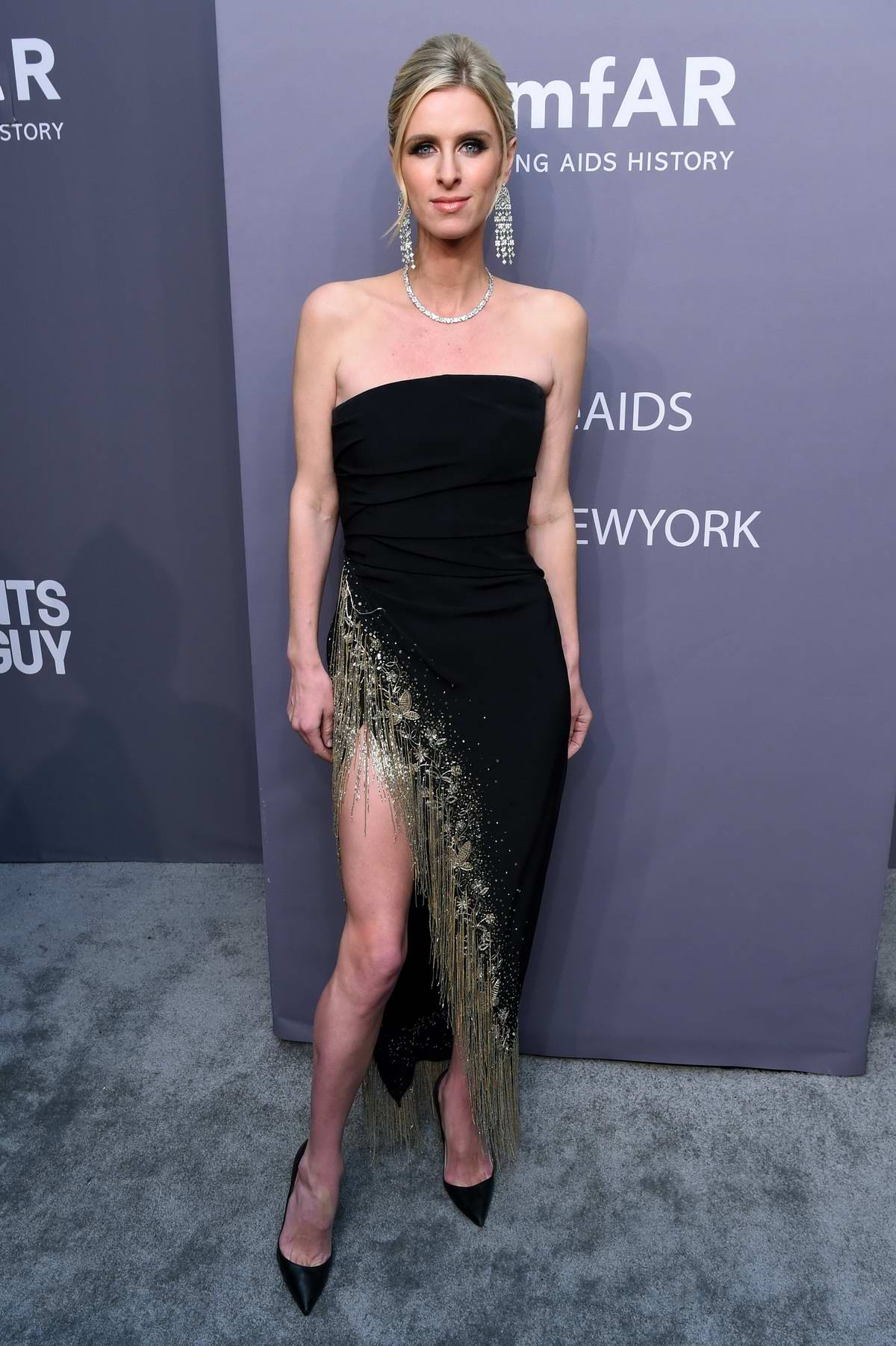 Nicky Hilton attends amfAR New York Gala 2019 at Cipriani Wall Street in New York City