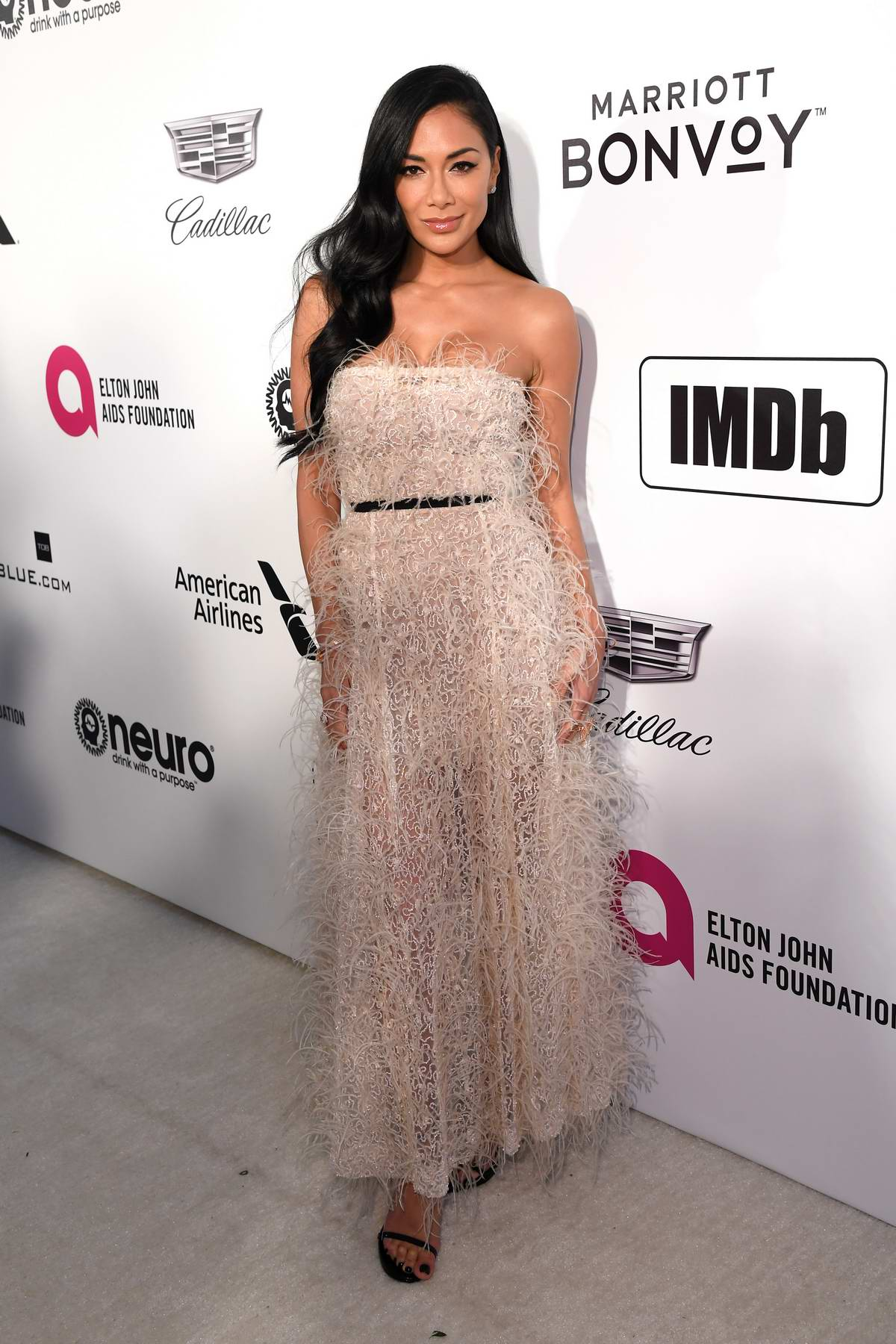 Nicole Scherzinger attends the 27th Annual Elton John AIDS Foundation Academy Awards Viewing Party in West Hollywood, Los Angeles