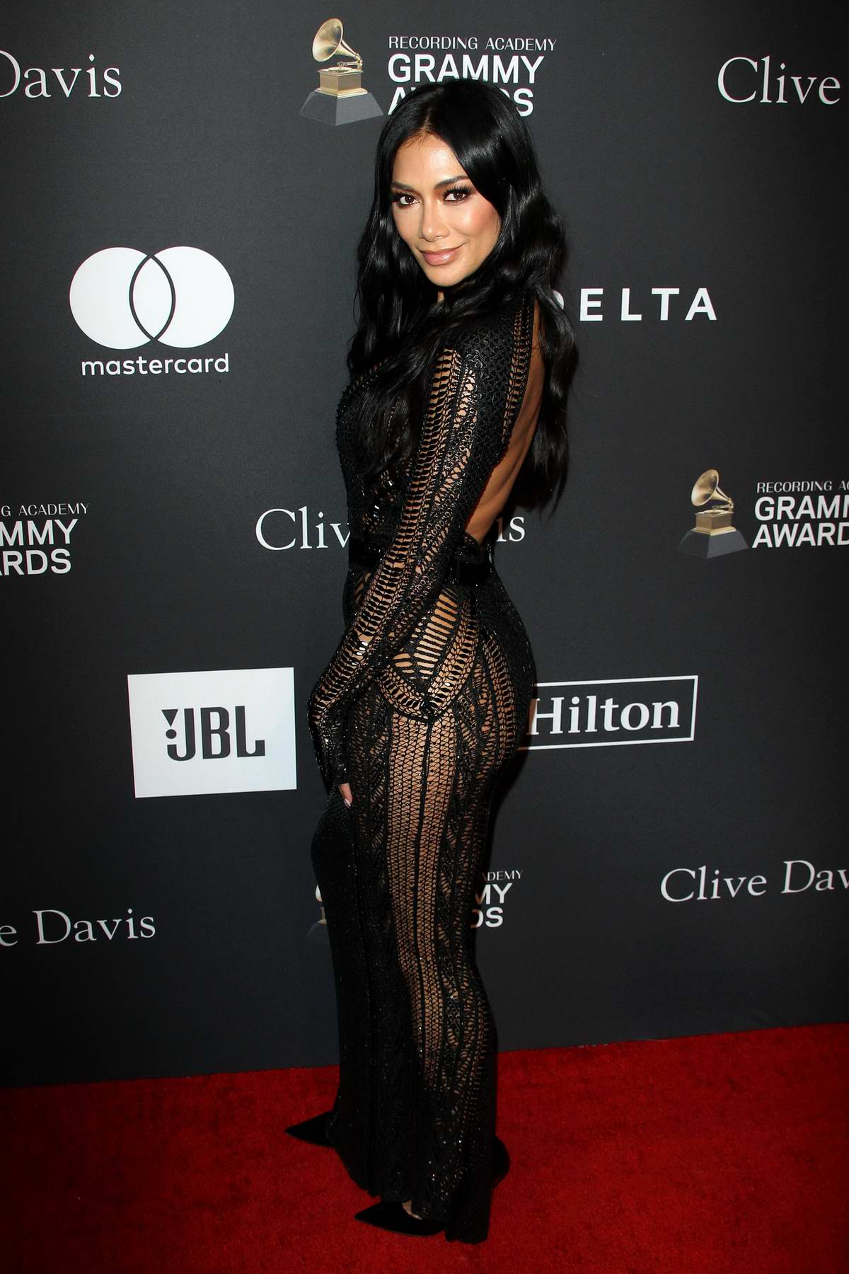 Nicole Scherzinger attends the Clive Davis Pre-Grammy Gala and Salute to Industry Icons held at The Beverly Hilton in Los Angeles