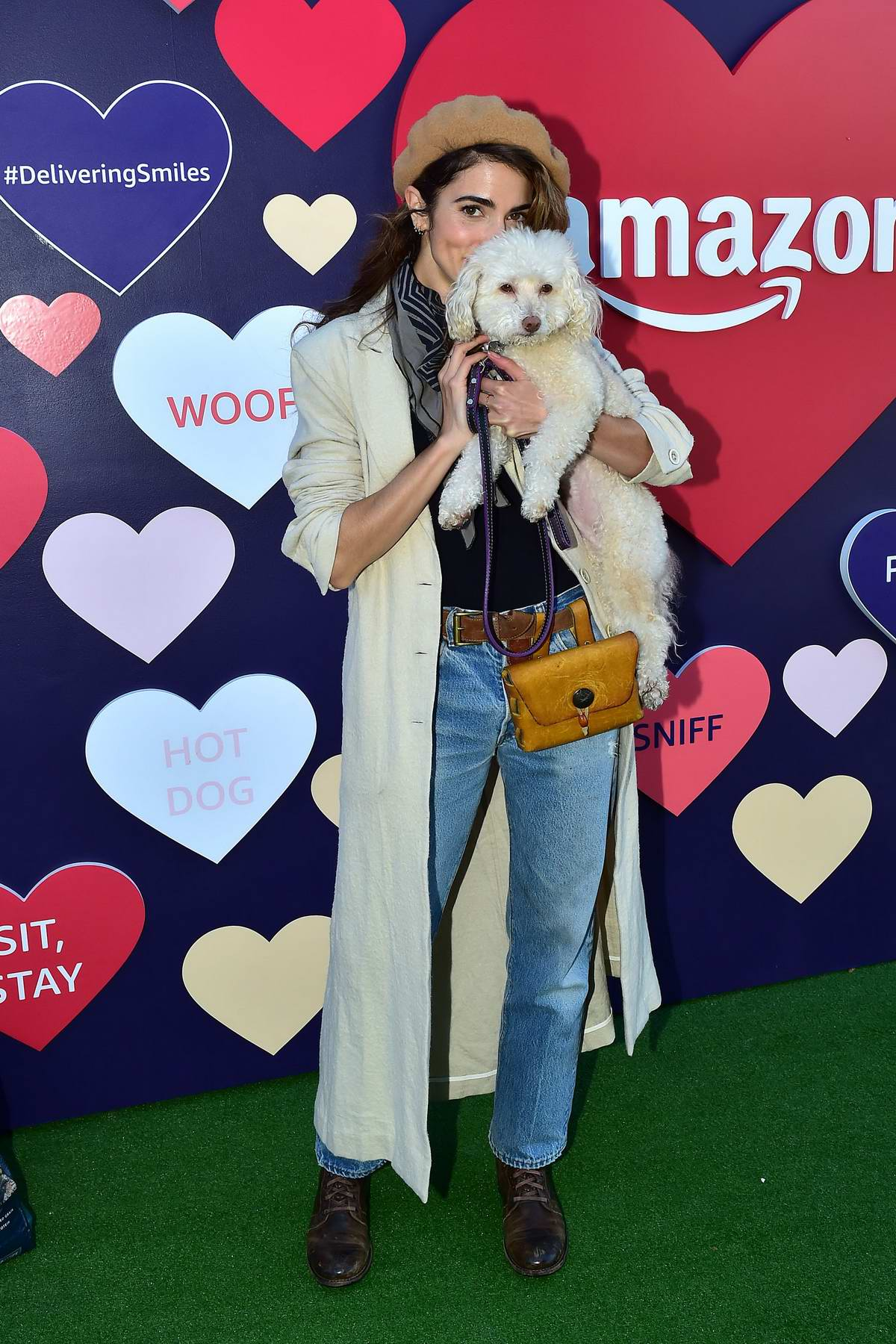 Nikki Reed attends the Amazon's Valentine's Pup-Up in Los Angeles
