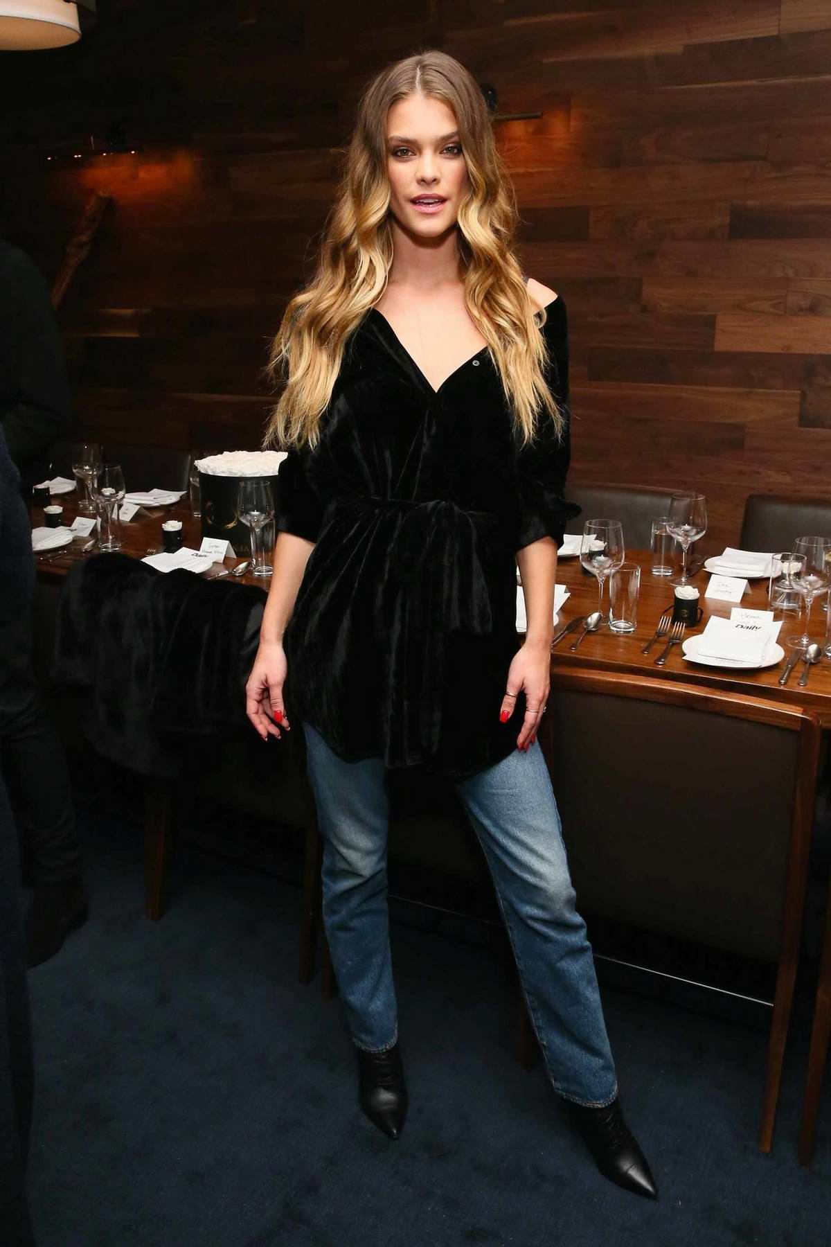 Nina Agdal attends Jeffrey Rudes Of L'Agence Dinner in New York City