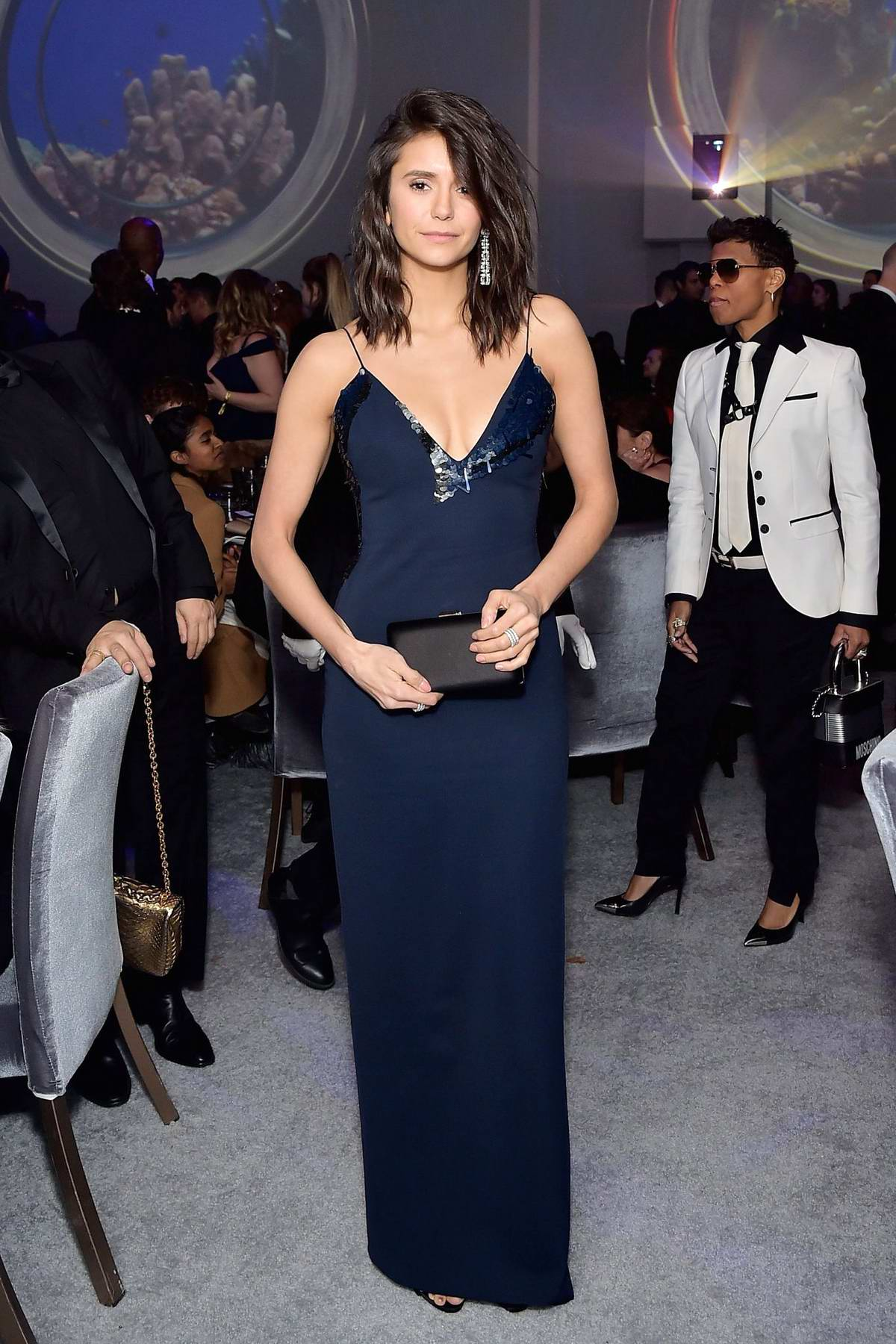 Nina Dobrev attends the Hollywood for Science Gala in Los Angeles