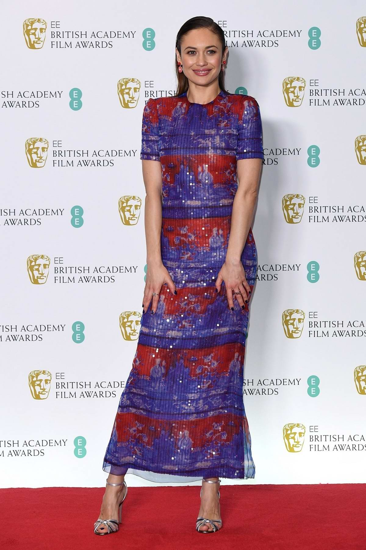 Olga Kurylenko attends the 72nd EE British Academy Film Awards (BAFTA 2019) at Royal Albert Hall in London, UK