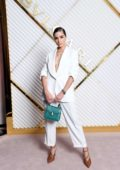 Olivia Culpo attends the annual Bulgari dinner during Milan Fashion Week in Milan, Italy