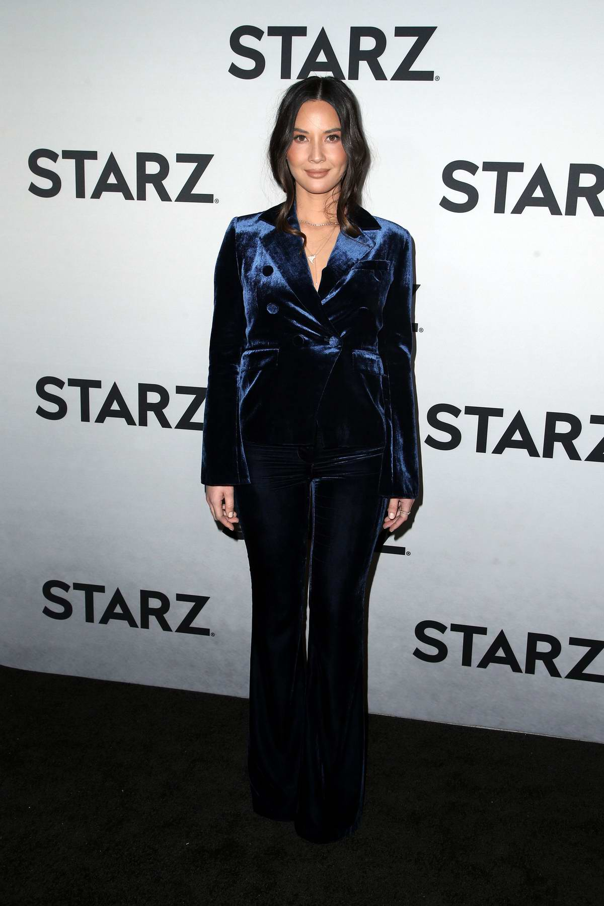 Olivia Munn attends the STARZ TCA Red Carpet Event at 71Above in Los Angeles