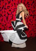 Paris Hilton attends the Alice + Olivia fashion show during New York Fashion Week in New York City