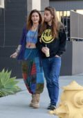 Paris Jackson and Gabriel Glenn walk arm in arm following lunch together at Cafe Gratitude in Los Angeles