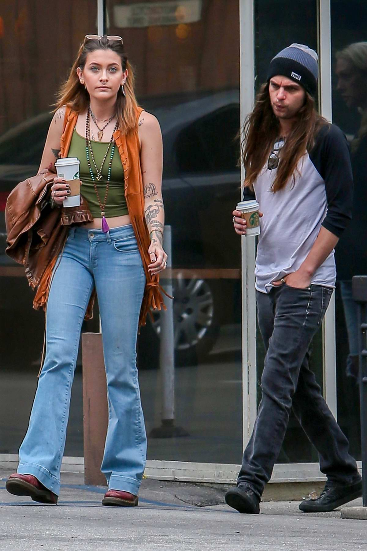 Paris Jackson Makes A Coffee Run With Her New Boyfriend