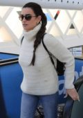Penelope Cruz spotted arriving at the Madrid airport, Spain