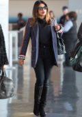 Priyanka Chopra seen wearing a Fendi blazer as she arrives at JFK airport in New York City