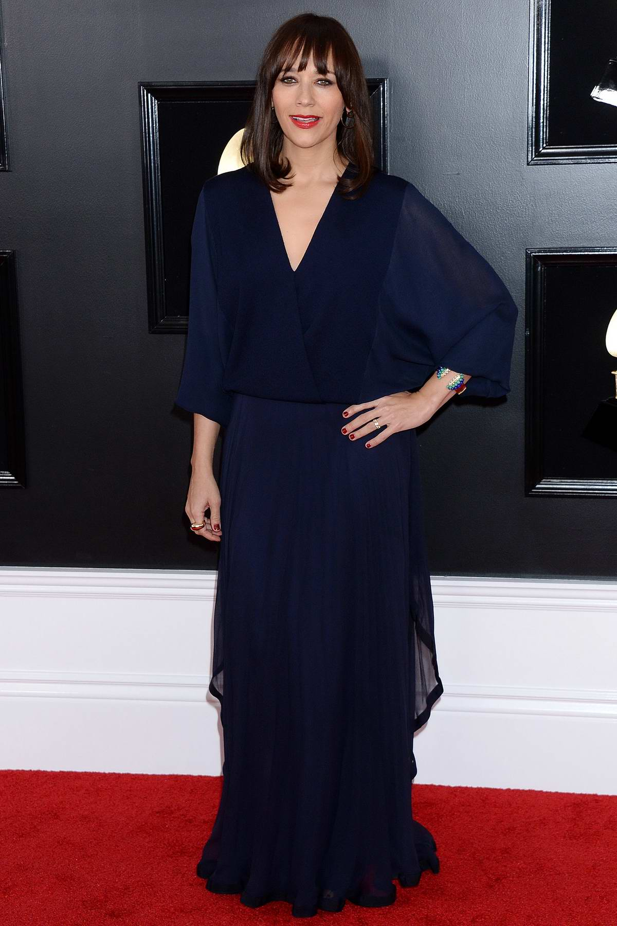 Rashida Jones attends the 61st Annual GRAMMY Awards (2019 GRAMMYs) at Staples Center in Los Angeles