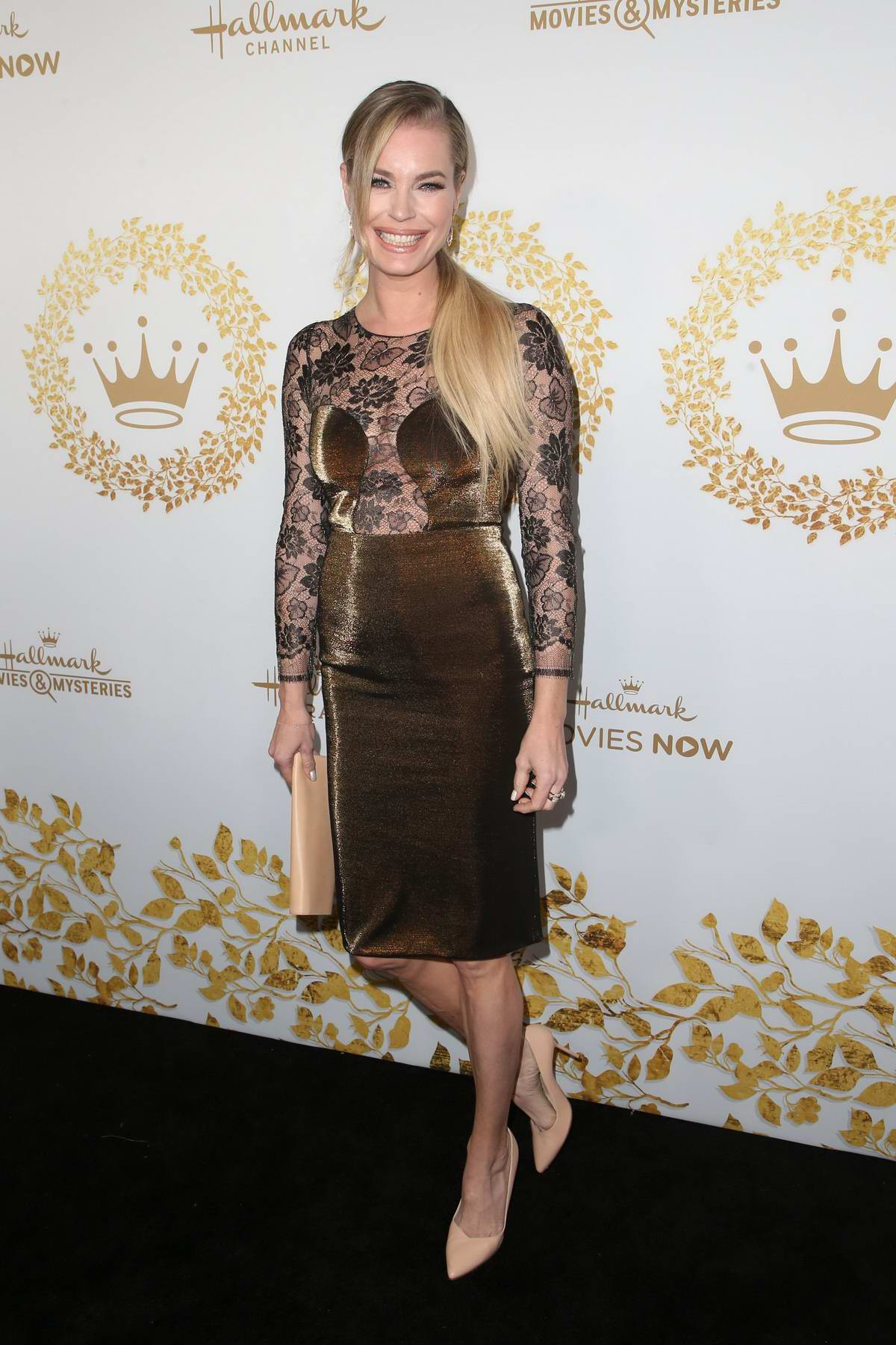 Rebecca Romijn attends Hallmark Channel TCA Winter Press Tour in Pasadena, California