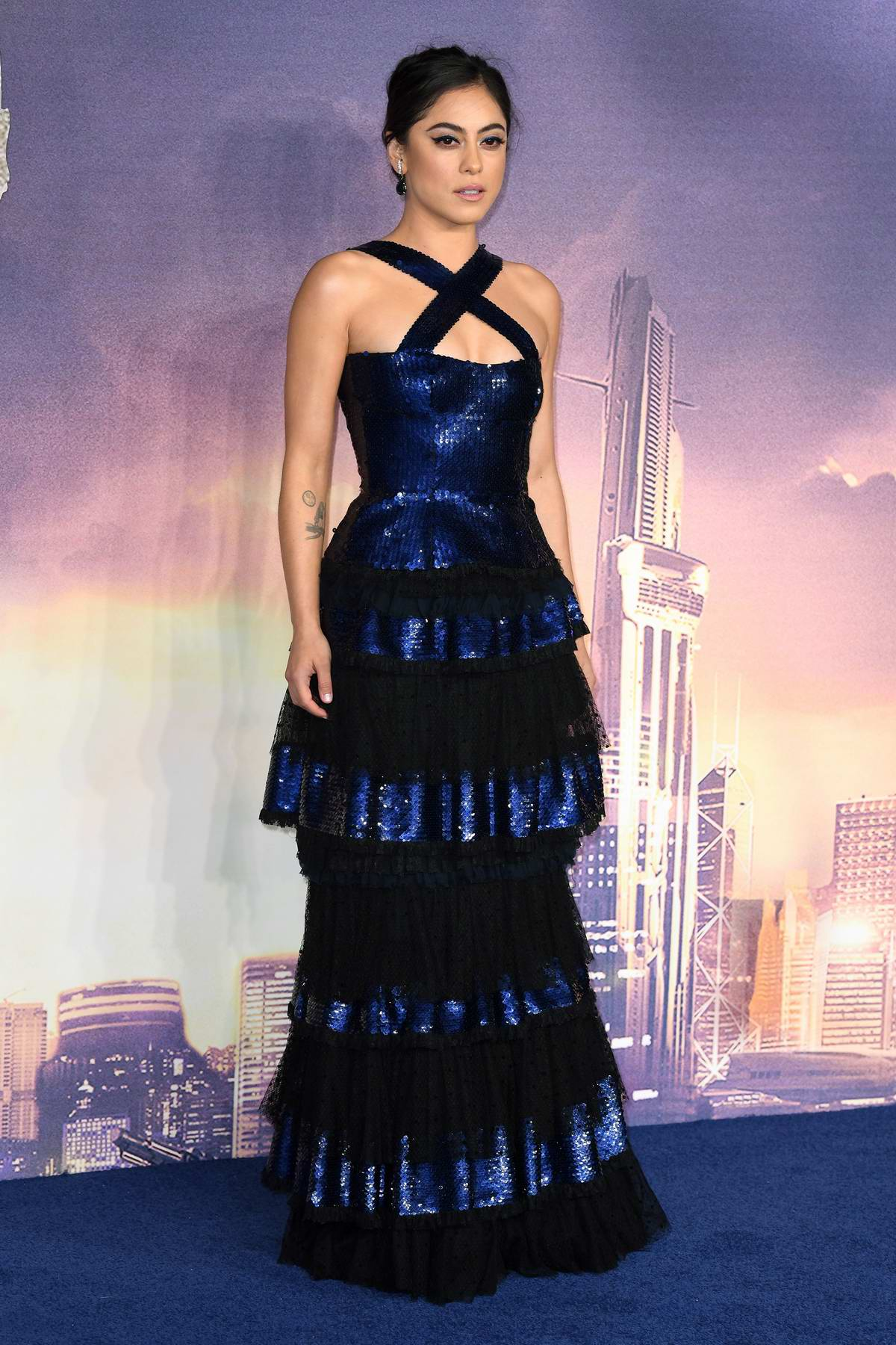 Rosa Salazar attends the Alita: Battle Angel premiere at Odeon Leicester Square in London, UK