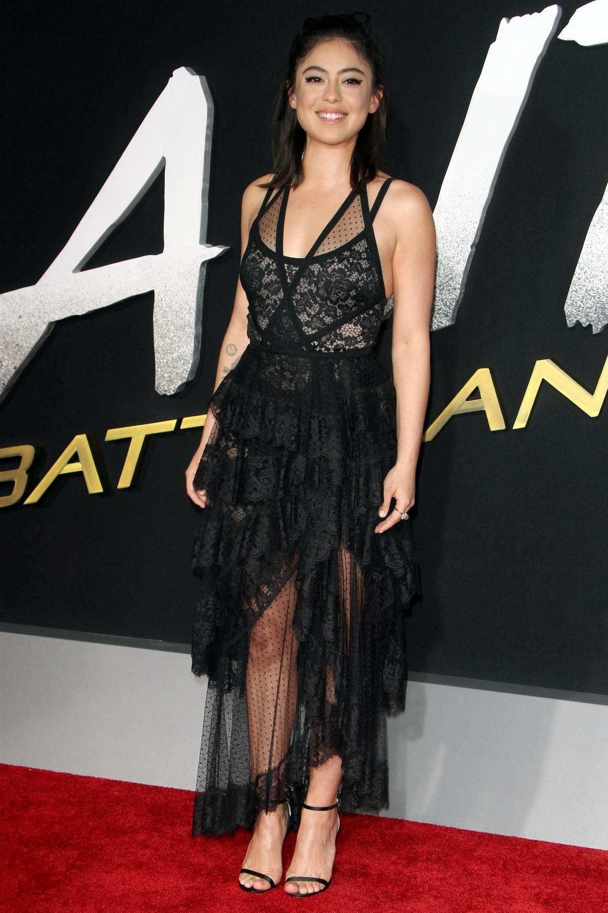 Rosa Salazar attends the World Premiere of 'Alita: Battle Angel' at Westwood Regency Theater in Los Angeles