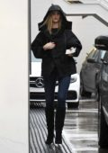 Rosie Huntington-Whiteley arrives for her appointment at the Lancer Dermatology Center in Beverly Hills, Los Angeles