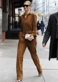 Rosie Huntington-Whiteley heading to the Ralph Lauren Show during New York Fashion Week in New York City