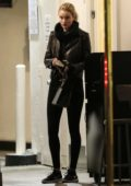 Rosie Huntington-Whiteley stops by the Lancer Skin Care Clinic in Beverly Hills, Los Angeles