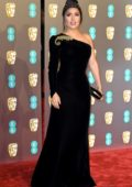 Salma Hayek attends the 72nd EE British Academy Film Awards (BAFTA 2019) at Royal Albert Hall in London, UK