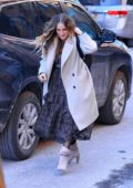 Sarah Jessica Parker braves the cold as she arrives for her new release in New York City