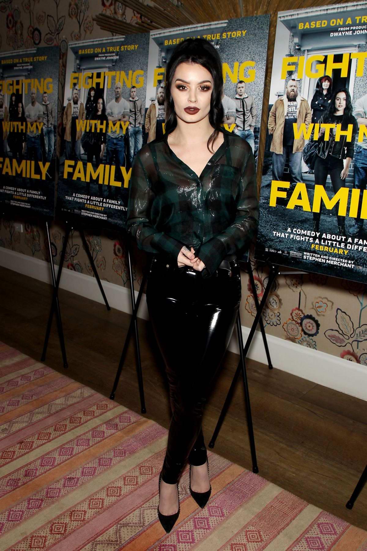 Saraya-Jade 'Paige' Bevis attends Fighting with My Family special screening in New York City