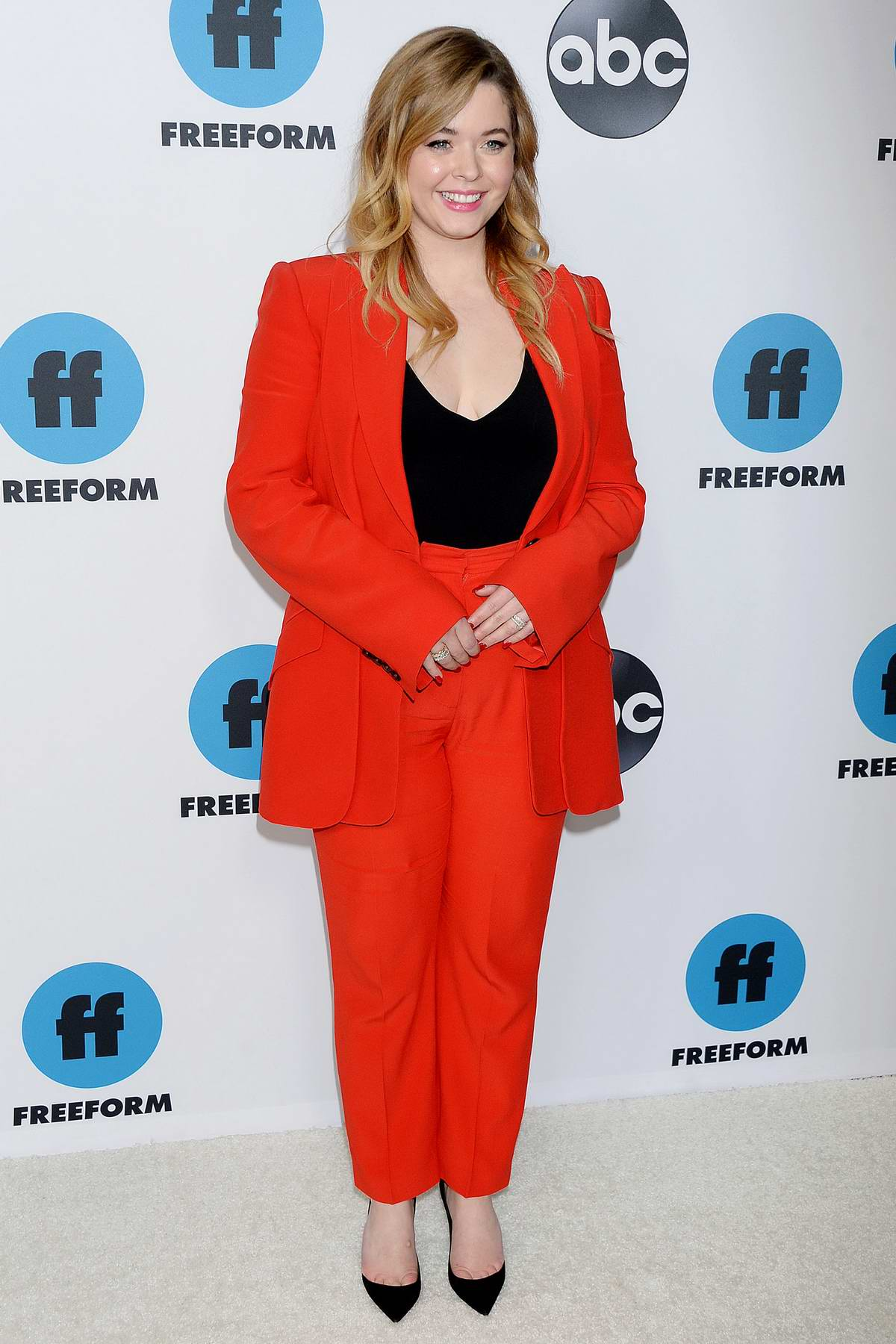 Sasha Pieterse attends the Freeform's TCA Winter Press Tour in Los Angeles