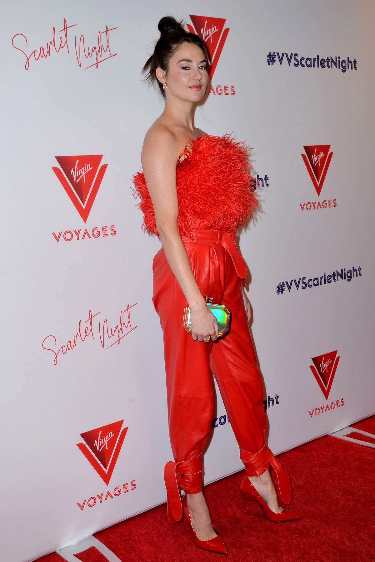 Shailene Woodley attends the Scarlet Night Party hosted by Virgin Voyages at PlayStation Theater in New York City