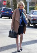 Sienna Miller and Russell Crowe pictured together for the first time filming 'The Loudest Voice' in Forest Hills, New York City