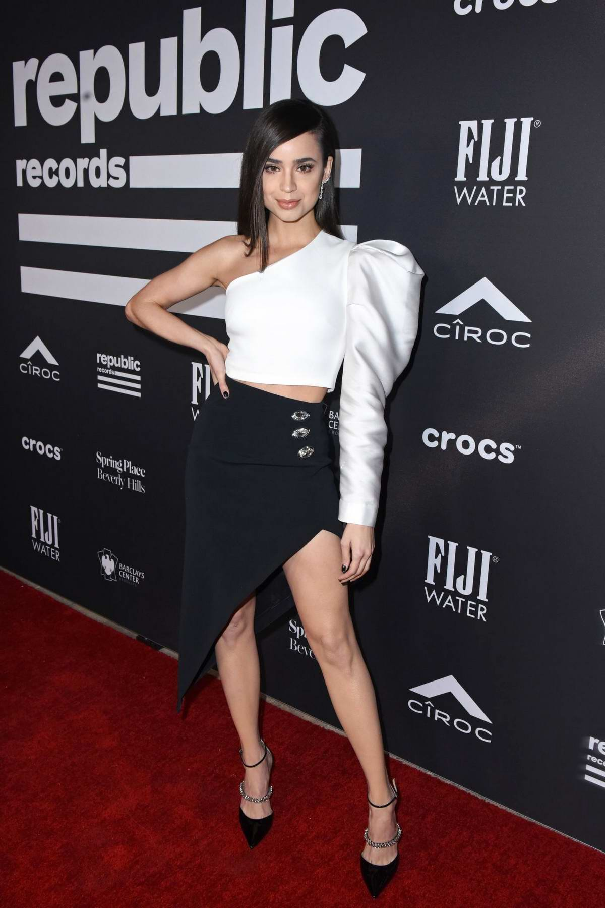 Sofia Carson attends Republic Records' Grammys 2019 After Party in Los Angeles