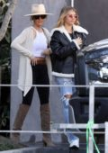 Sofia Richie meets up with a friend for lunch at Cafe Habana in Malibu, California