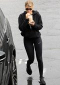 Sofia Richie sips on an iced coffee as she hits the gym in West Hollywood, Los Angeles