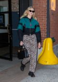 Sophie Turner seen leaving Highline Stages after doing a photoshoot for Louis Vuitton in New York City