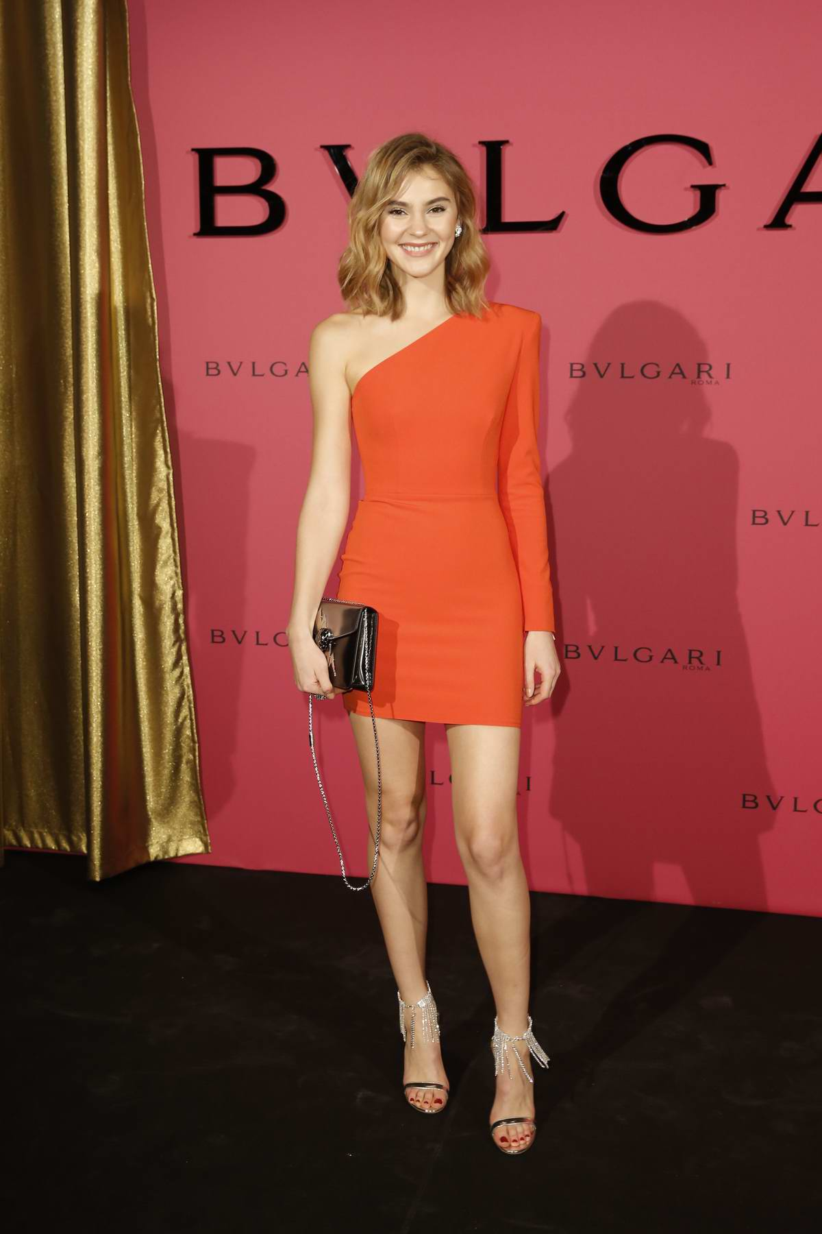 Stefanie Giesinger attends the Bulgari Party during 69th Berlinale International Film Festival in Berlin, Germany