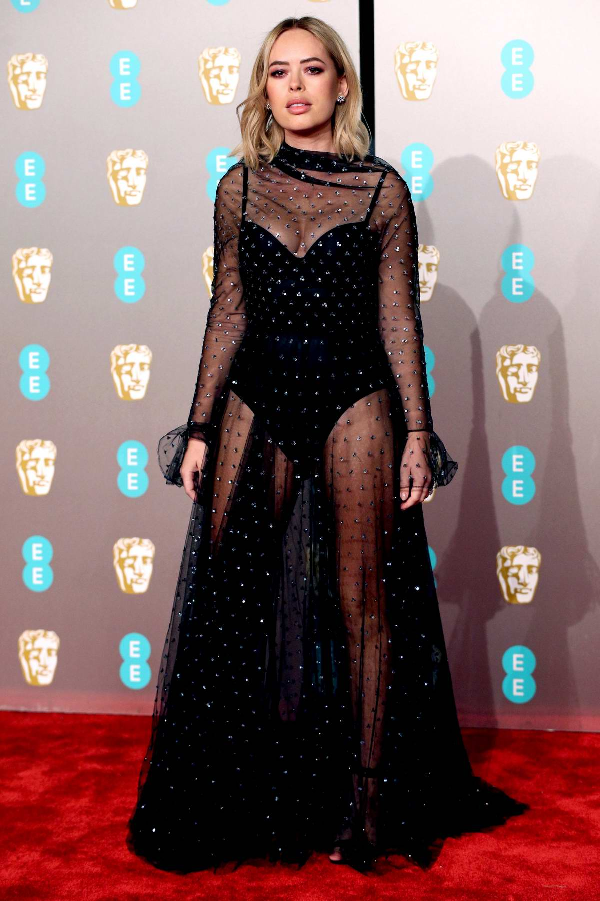 Tanya Burr attends the 72nd EE British Academy Film Awards (BAFTA 2019) at Royal Albert Hall in London, UK