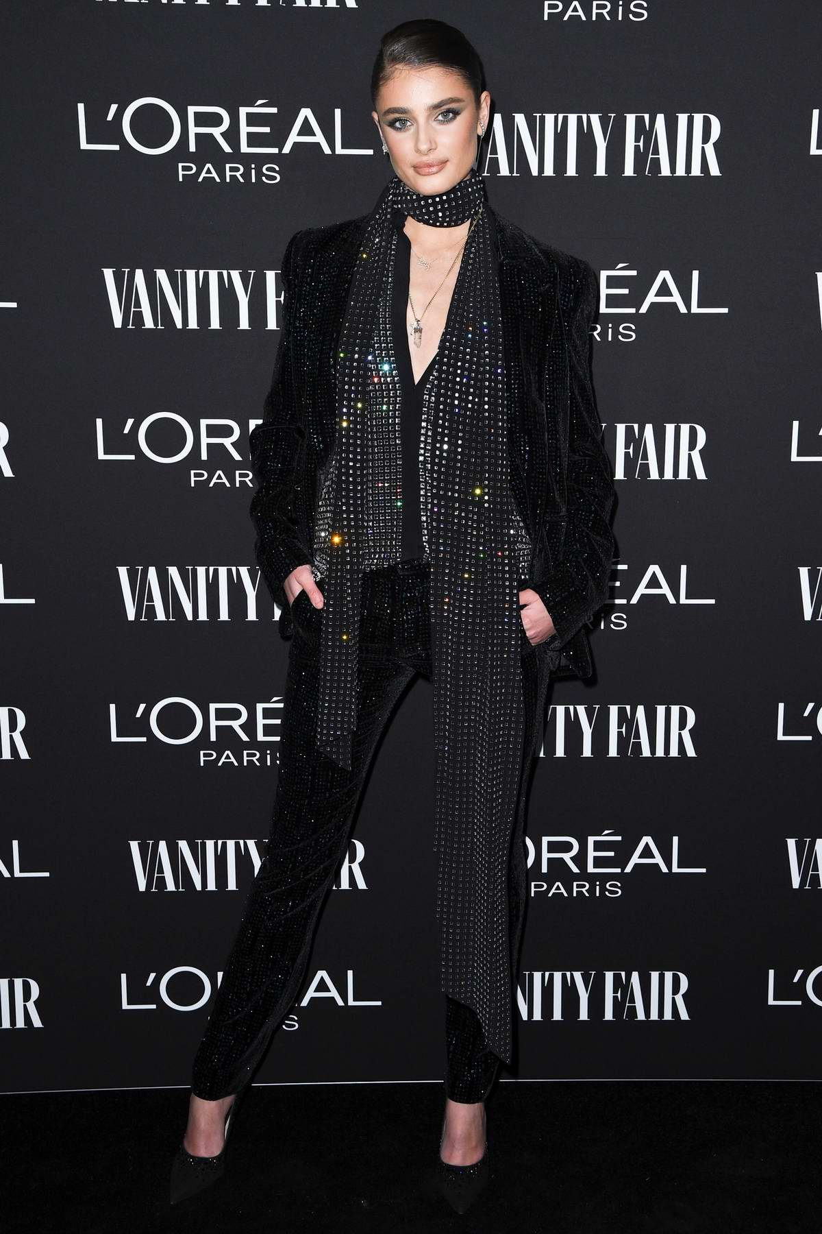 Taylor Hill attends the Vanity Fair and L'Oréal Paris Celebrate New Hollywood in Los Angeles