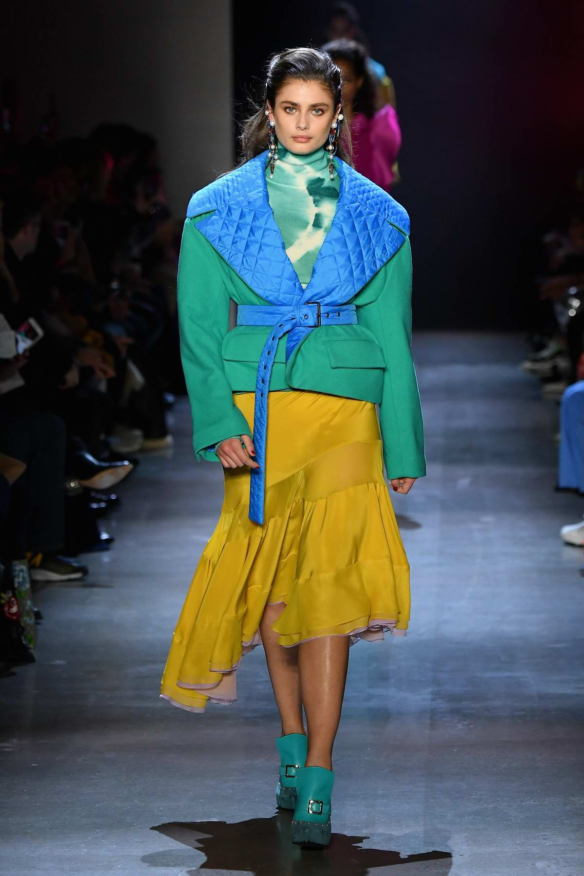 Taylor Hill walks the runway for the Prabal Gurung fashion show during New York Fashion Week in New York City