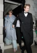 Taylor Swift and Joe Alwyn seen leaving Vogue BAFTA event at Annabel's in London, UK