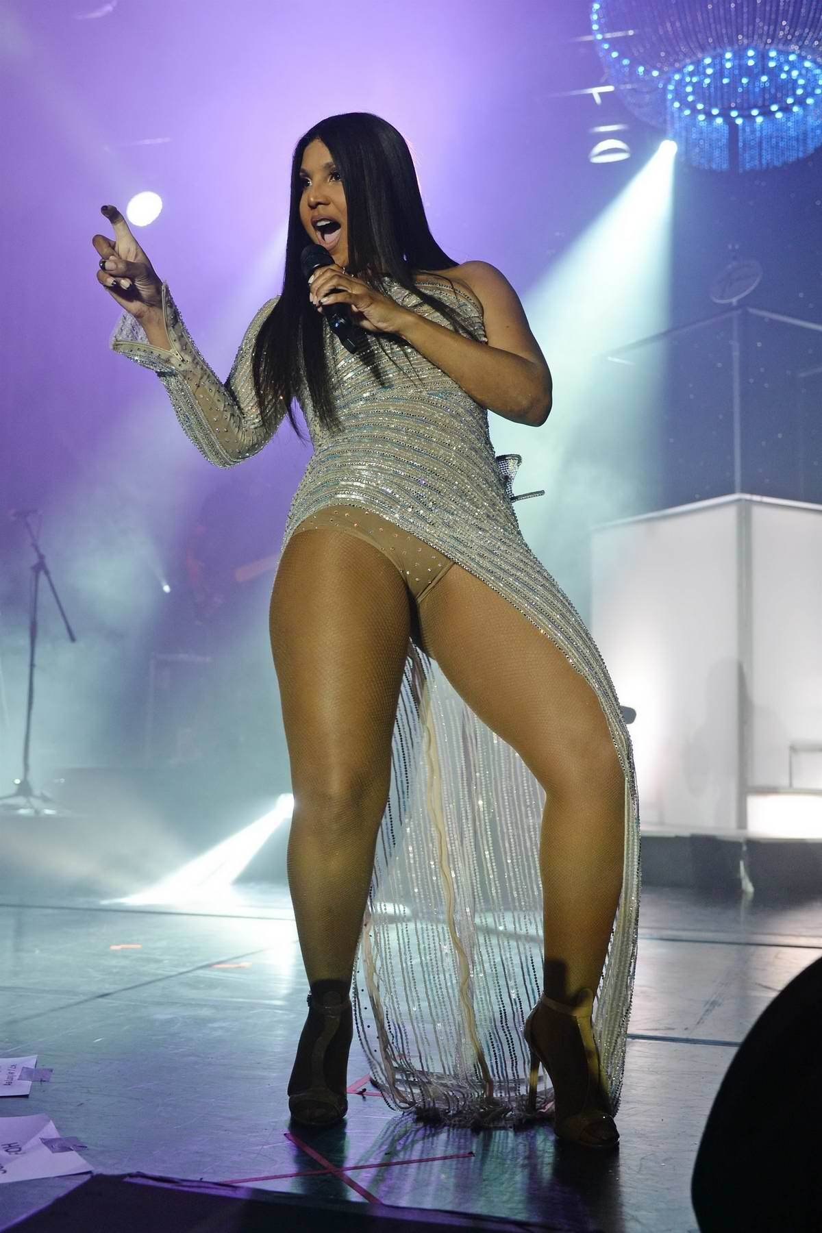 Toni Braxton performs at the Hard Rock Events Center held at the Seminole Hard Rock Hotel & Casino in Hollywood, Florida