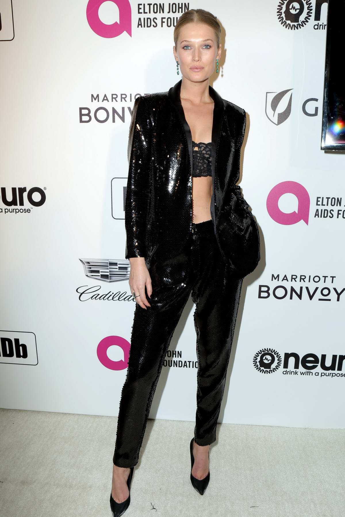 Toni Garrn attends the 27th Annual Elton John AIDS Foundation Academy Awards Viewing Party in West Hollywood, Los Angeles
